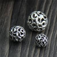 Бусины из настоящего балийского серебра, Таиланд, Круглая, разный размер для выбора & отверстие, продается Лот