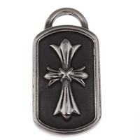 Ювелирные подвески из нержавеющей стали, нержавеющая сталь, Прямоугольная форма, чернеют, 21x41.50x3.50mm, отверстие:Приблизительно 8.5x4mm, продается PC