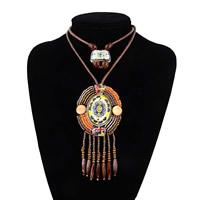 Ожерелья из полимерной смолы, Искусственная кожа, с кожаный шнур & Стеклянный бисер & канифоль, Женский & граненый & двунитевая, 75mm, 130mm, Продан через Приблизительно 20.4 дюймовый Strand
