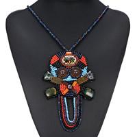 Ожерелья из полимерной смолы, канифоль, с Искусственная кожа & кошачий глаз & Стеклянный бисер, Женский, 157mm, Продан через Приблизительно 31.1 дюймовый Strand