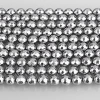 Бусины из ракушек с Южного моря, южноморская ракушка, Круглая, граненый, серый, 8mm, 49ПК/Strand, Продан через Приблизительно 15.5 дюймовый Strand