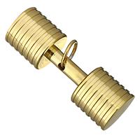 Ювелирные подвески из нержавеющей стали, нержавеющая сталь, Штанга, плакирован золотом, 45x15x15mm, отверстие:Приблизительно 8mm, продается PC