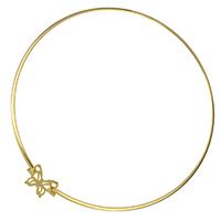 Воротник Ожерелье, нержавеющая сталь, бабочка, плакирован золотом, Женский, 20x17mm, 3x1.5mm, внутренний диаметр:Приблизительно 140mm, продается указан
