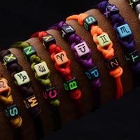 Акриловые браслеты, Нейлоновый Полипропилен, с Акрил, созвездие ювелирные изделия, Много цветов для выбора, 7x7mm, Продан через Приблизительно 9 дюймовый Strand