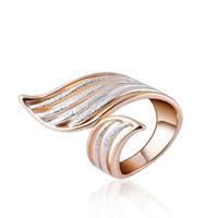 цинковый сплав Манжеты палец кольцо, плакированный цветом розового золота, различный внутренний диаметр по выбору & Женский & со стразами, не содержит свинец и кадмий, 21x38mm, продается PC