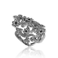 Модные кольца, цинковый сплав, плакированный цветом под старое серебро, различный внутренний диаметр по выбору & Женский & со стразами, не содержит свинец и кадмий, 19x42mm, продается PC