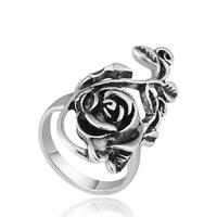 Модные кольца, цинковый сплав, плакированный цветом под старое серебро, различный внутренний диаметр по выбору & Женский, не содержит свинец и кадмий, 18x31mm, продается PC