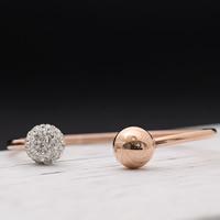 титан браслет-манжеты, с клей, плакированный цветом розового золота, Женский, 10-12mm, внутренний диаметр:Приблизительно 60mm, длина:Приблизительно 7 дюймовый, продается PC