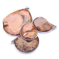 подвеска, с Латунь, Платиновое покрытие платиновым цвет, разнообразный, 27-47x36-60x4-7mm, отверстие:Приблизительно 5mm, 5ПК/Лот, продается Лот