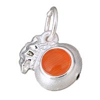 Кулоны из серебра, Серебро 925 пробы, с кошачий глаз, Кошелек, 11x11x7mm, отверстие:Приблизительно 5mm, 10ПК/Лот, продается Лот