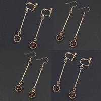 Латунь Leverback Серьга, с Акрил, плакирован золотом, разные стили для выбора, не содержит никель, свинец, 65x10mm, продается Пара