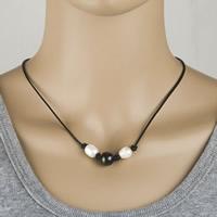 Природное пресноводное жемчужное ожерелье, Пресноводные жемчуги, с коровьей шнур, Женский & двухцветный, 8-10mm, Продан через Приблизительно 17.5 дюймовый Strand
