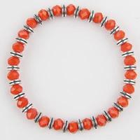 Кристалл браслеты, цинковый сплав, с Кристаллы, Круглая форма, плакированный цветом под старое серебро, Женский & граненый, не содержит никель, свинец, 190mm, Продан через Приблизительно 7.5 дюймовый Strand