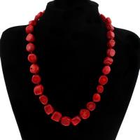 Коралловые ожерелья, Натуральный коралл, Женский, 10x11mm-16x17mm, Продан через Приблизительно 20 дюймовый Strand