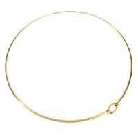 Воротник Ожерелье, нержавеющая сталь, плакирован золотом, Женский, 14mm,3mm, внутренний диаметр:Приблизительно 144mm, продается PC