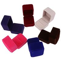 Бархатная коробочка для кольца, Бархат, Много цветов для выбора, 51x60x51mm, продается PC