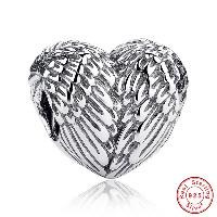 Бусины Европейская стиль из серебра 925 пробы, Таиланд, Сердце, без Тролль, 10mm, продается PC