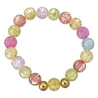Кристалл браслеты, нержавеющая сталь, с Кристаллы, Круглая, плакирован золотом, Женский, 10mm, 8mm, Продан через Приблизительно 6 дюймовый Strand