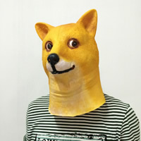 Fashion Party Mask, Хэллоуин ювелирные изделия, желтый, 320x250mm, продается PC