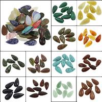 Кольё из камней, Полудрагоценный камень, Каплевидная форма, различные материалы для выбора, 15x30x6mm, 100ПК/сумка, продается сумка