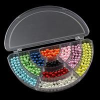Бусины из пластика, пластик, с пластиковая коробка, 6mm, 162x92x22mm, внутренний диаметр:Приблизительно 1mm, продается Box