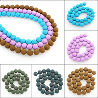 Бусины из полимерной глины, полимерный клей, Круглая, Много цветов для выбора, 12mm, отверстие:Приблизительно 1mm, Приблизительно 32ПК/Strand, Продан через Приблизительно 15.5 дюймовый Strand