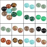Кольё из камней, Полудрагоценный камень, Плоская круглая форма, ручной работы & различные материалы для выбора, 16x7mm, 100ПК/сумка, продается сумка