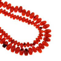 Бусины из натурального коралла, Натуральный коралл, Цилиндрическая форма, разный размер для выбора, отверстие:Приблизительно 1mm, длина:Приблизительно 14.5 дюймовый, 10пряди/сумка, продается сумка