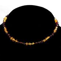Ожерелье из агата, янтарь, натуральный, для детей, Много цветов для выбора, 330mm, Продан через Приблизительно 13 дюймовый Strand