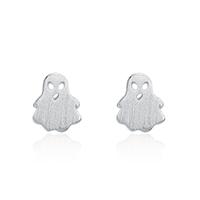 Серьги из серебра, Серебро 925 пробы, призрак, покрытый платиной, Женский, 6x7mm, 3Пары/Лот, продается Лот