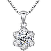 Серебряное ожерелье, Латунь, Форма цветка, плакирован серебром, Цепной ящик & Женский & со стразами, не содержит свинец и кадмий, 15x8mm, Продан через Приблизительно 15.5 дюймовый Strand