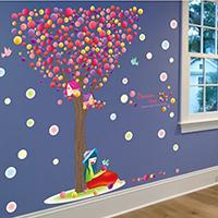 Наклейки на стену, PVC-пластик, Дерево, с письмо узором & водонепроницаемый, 600x900mm, продается указан