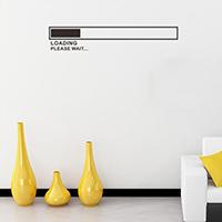 Наклейки на стену, PVC-пластик, с письмо узором & водонепроницаемый, 570x100mm, продается указан