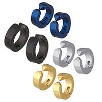 Модные серьги каффы, нержавеющая сталь, Другое покрытие, Мужская, Много цветов для выбора, 13x13x4mm, продается PC