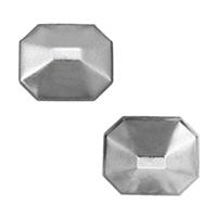 сеттинг для кабошона из нержавеющей, нержавеющая сталь, плоской задней панелью, оригинальный цвет, 12x10.50x4mm, внутренний диаметр:Приблизительно 11.5x10mm, 500ПК/Лот, продается Лот