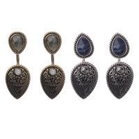 Серьги из камня, цинковый сплав, с Полудрагоценный камень, Другое покрытие, Женский, Много цветов для выбора, не содержит никель, свинец, 25mm, продается Пара