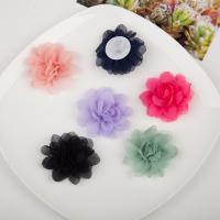 Марля Аксессуары для волос DIY Результаты, Форма цветка, Много цветов для выбора, 50mm, 20ПК/сумка, продается сумка