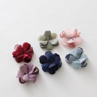 ткань Аксессуары для волос DIY Результаты, с Марля, Форма цветка, Много цветов для выбора, 40mm, 20ПК/сумка, продается сумка