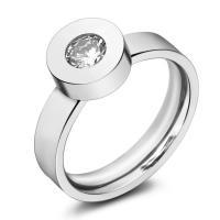Кольца с кристаллами, титан, с Кристаллы, разный размер для выбора & Женский, оригинальный цвет, 4mm, продается PC