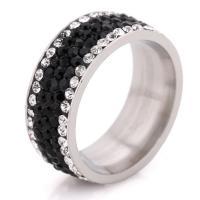 Кольца с кристаллами, титан, с Кристаллы, разный размер для выбора & Женский, оригинальный цвет, 8mm, продается PC