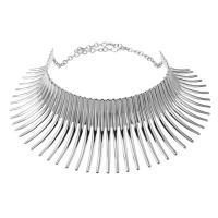 Ожерелья из металла, Железо, с 5cm наполнитель цепи, Другое покрытие, Женский, Много цветов для выбора, не содержит свинец и кадмий, 50x100mm, Продан через Приблизительно 17.5 дюймовый Strand