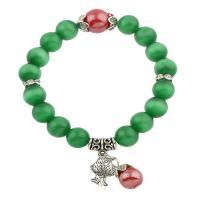 Акриловые браслеты, Акрил, с цинковый сплав, не содержит свинец и кадмий, 55x55x9mm, Продан через Приблизительно 8 дюймовый Strand