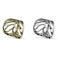цинковый сплав Двойное кольцо Броня Кейдж кольцо, Другое покрытие, Женский, Много цветов для выбора, 25x21mm, размер:7.5, продается PC