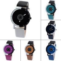 Часы унисекс, с Стеклянный & цинковый сплав, Другое покрытие, Мужская, Много цветов для выбора, 39x9mm, длина:Приблизительно 9 дюймовый, продается PC
