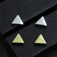 Коннекторы из серебра , Серебро 925 пробы, Треугольник, Другое покрытие, Многоканальный, Много цветов для выбора, 5.80x2.20mm, отверстие:Приблизительно 1mm, 10ПК/Лот, продается Лот