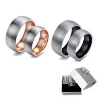 Пара кольца перста, Вольфрама сталь, Другое покрытие, разный размер для выбора & Матовый металлический эффект & для пара, Много цветов для выбора, 8mm, 6mm, Приблизительно 2ПК/указан, продается указан