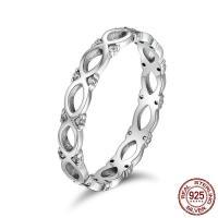 Cеребряное кольцо, Таиланд, разный размер для выбора & Женский & с кубическим цирконием, 3mm, продается PC