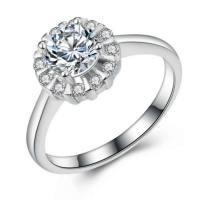 Cеребряное кольцо, Серебро 925 пробы, неэластичный, разный размер для выбора & Женский & с кубическим цирконием, 9.5mm, продается PC