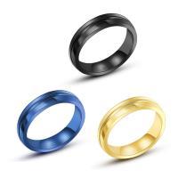 Пальцевидное Кольцо Титановой Стали, титан, Другое покрытие, Мужская & разный размер для выбора, Много цветов для выбора, 4.5mm, продается PC