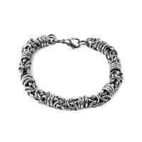 титан браслет, различной длины для выбора & Мужская & чернеют, 8.6mm, продается Strand